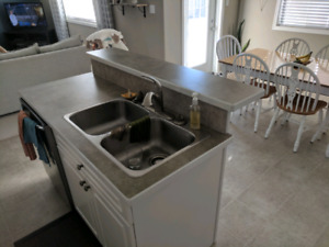 Kitchen island (Sink included)
