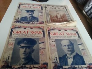 4 WWI THE GREAT WAR MAGAZINE (3 from 1917 1  from 1919)