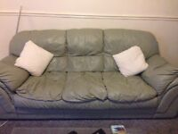 Leather 3 seater sofa & 2 arm chairs for sale !
