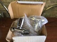 Radiator valves - Crome pair