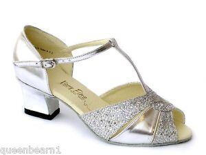 Womens West Coast Swing Salsa Ballroom Dance Shoes Low