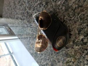 Ray-Ban, Gold, Aviator Classic Sunglasses