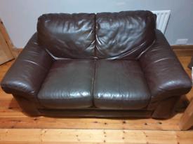 Free 2 Seater Tan Leather Sofa