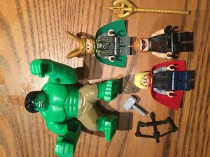 Authentic lego minifigure loki thor hawkeye the hulk lot minifig