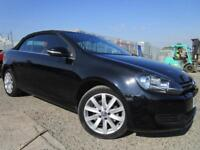 VOLKSWAGEN GOLF 1.4 TSI S 2 DOOR CONVERTIBLE CABRIOLET BLACK 2013MY 63