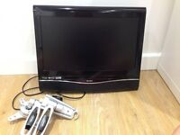 """18"""" TV with integrated DVD and wall mount bracket"""