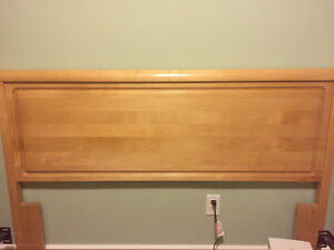 Headboard, queen, solid maple.