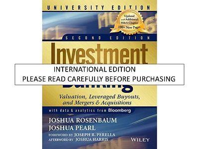 Investment Banking 2nd Ed By Joshua Rosenbaum, Joshua Pearl