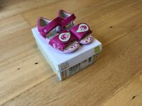 Girl's Clarks first shoes 4 1/2 F
