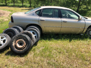 2005 Chevy impala with lots of tires