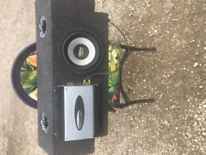 Car auto 10 inch subwoofer and amp