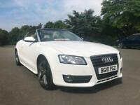 Audi A5 DIESEL CABRIOLET 2.0 TDI 2dr LOW MILEAGE LEATHER LONG MOT STUNNING