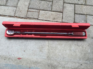 Torque wrench 1/2 et 3/4 Snap on et Power Fist