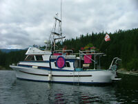 34 foot converted ex gill netter for sale