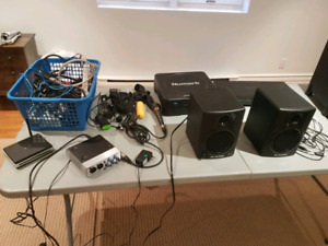 Lots of electronics, audio, dj tools, blu Ray and more.