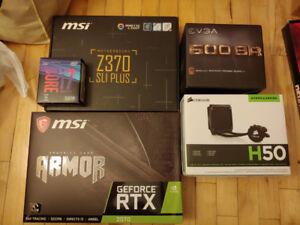 Gaming desktop neuf i7 8700k rtx 2070 ssd 480g hdd 4tb