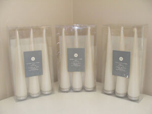 3 Boxes of Unscented Candles
