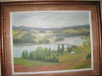 ROLLING HILLS WEST RIVER,P.E.I .{OIL ON CANVAS}