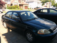 1998 Honda Civic Sedan - 180Km - 950$