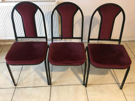 Dining chairs x 5