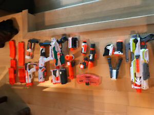 Nerf guns and attachments for sale
