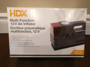 Brand new in box multi function 12v portable air inflator