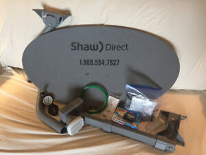 Shaw Direct Satellite Dish and assessories
