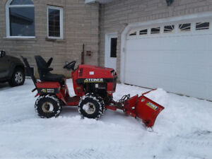 Snowplow and apartment garbage bin puller