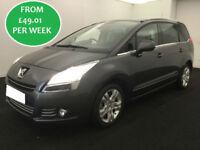 £212.39 PER MONTH 2013 Peugeot 5008 2.0 HDi Allure MPV 7 SEATS DIESEL AUTO