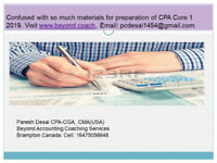 Tutoring CPA Core 1  and Core 2  Spring  2019 Exam, Vancouver