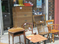 CHAIRS WOODEN, 2 FOR  4O.