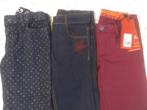 3 x Like New Adjustable Skinny Jeans for Girls,  Size 7
