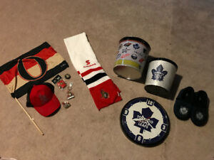 Ottawa Senators and Toronto Maple Leaf Hockey Memorabilia