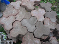 3-Point Red/Pink Patio Stones/Pavers