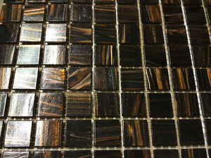 "*^*^* ""SASSI 12x12"" PREMIUM GLASS TILES JAVA BRONZE""  *^*^*^*^*^"