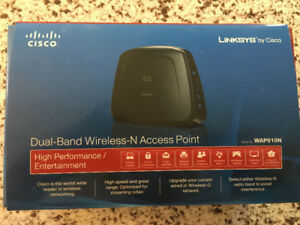 like new CISCO Dual-band wireless-N Access point Wap610N