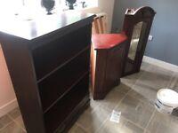 Corner cabinet and book shelf