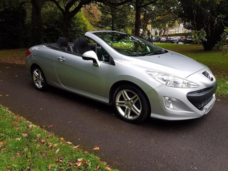 2009 peugeot 308 cc 2 0hdi se convertible 1 former keeper fsh 4095 in penarth vale of. Black Bedroom Furniture Sets. Home Design Ideas