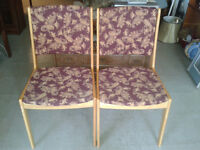 FAPO: 2 Matching wooden chairs with new paisley upholstery