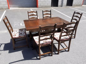 ERCOL Extendable Dining Table and 6 Chairs