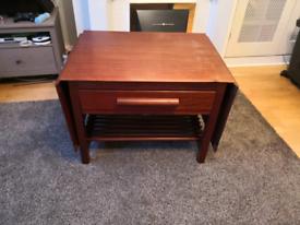 Vintage teak sewing table