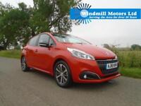 2016/16 PEUGEOT 208 1.2 PURETECH XS WHITE 5DR ORANGE - ONLY 3K MILES!