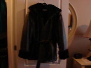 Manteau cuir marque Pelle