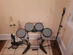 PS3 Complete Rockband Set With All Musical Equipment And 5 Games