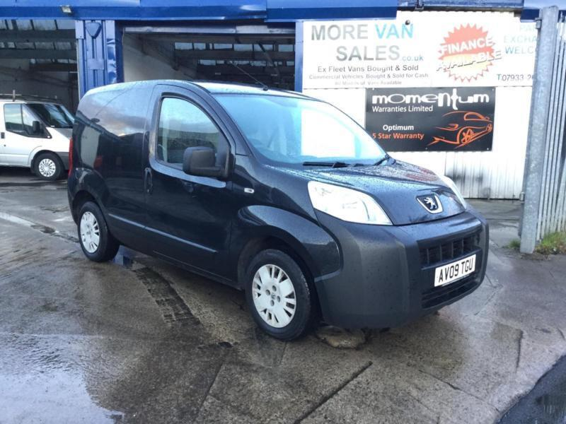 f19926c3b2 2009 black Peugeot Bipper 1.4HDi 8v 70 Professional van ideal dog working  van