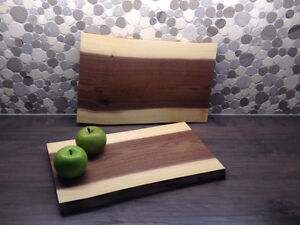 Charcuterie Boards, cutting boards, live edge walnut
