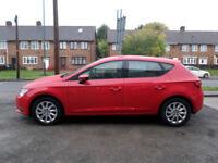2013 Seat Leon 1.6TDI ( 105ps ) ( s/s ) SE 5Dr 13 REG Diesel Red