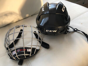 CCM helmet with cage size small