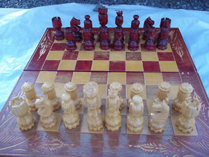 Chess Set with Chess & Backgammon Board/Case