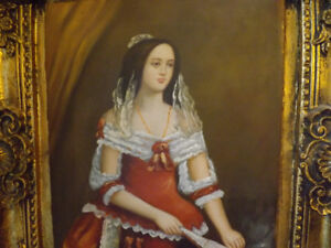 CADRE PEINTURE CLASSIQUE - CLASSICAL PAINTING OIL ON CANVAS.See